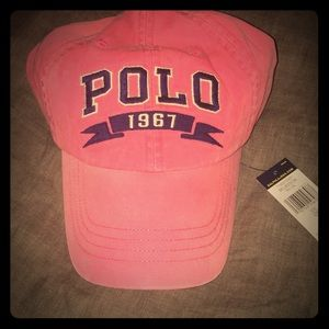 Pink Polo Chino hat